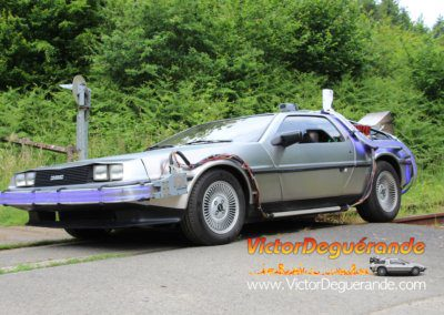 DeLorean sur rails